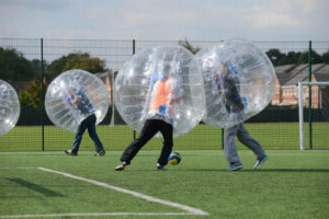 bubble - ball -amsterdam -bachelor -party - teambuilding