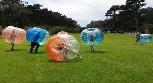 bubble soccer crazy activity