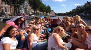 boat -cruise - bachelorette - hen - prosecco - amsterdam